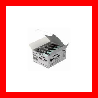 カシオ計算機 テープ XR-12WE-20P-E 白に黒文字 12mm20個