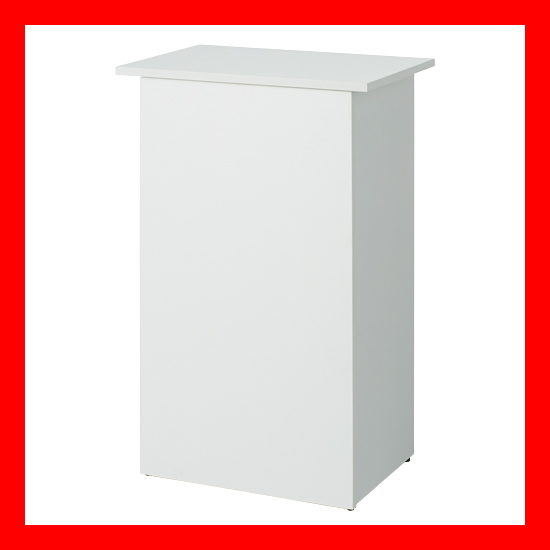【 アール・エフ・ヤマカワ 】 収納付無人カウンター SHRC-600WH ホワイト
