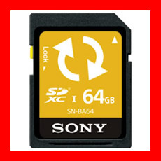 SONY Backup機能付SDカード64GB SN-BA64 F