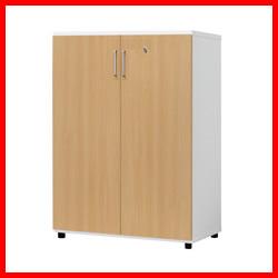 《白井産業》 ☆木製棚扉付OF2-1175RT H1114mmナチュラル