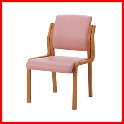 【ジョインテックス】 会議イス WF-C5L ピンク 肘無 木製
