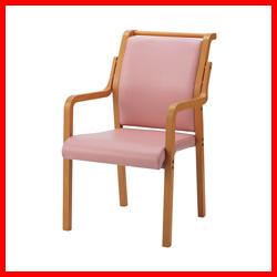 【ジョインテックス】 会議イス WF-C8AL ピンク 木製