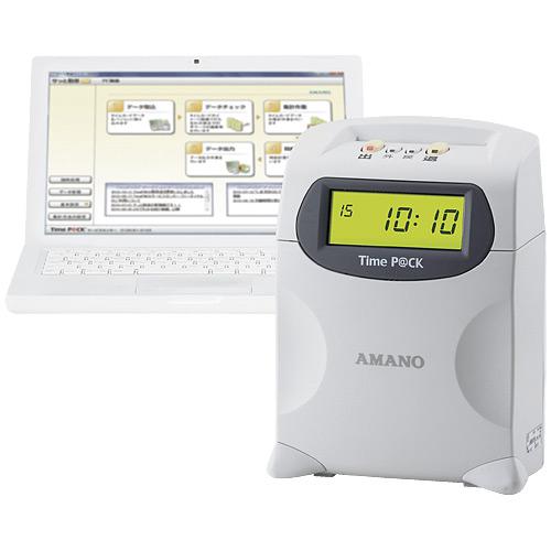 【キャッシュレス5%還元】《送料無料》アマノ USBケーブルモデル タイムレコーダー TimeP@CK2(タイムパック2)【smtb-f】
