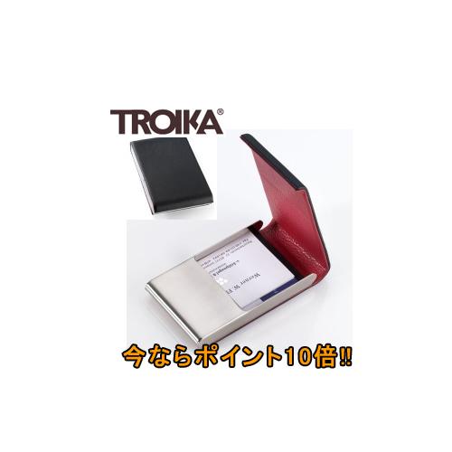 【キャッシュレス5%還元】《ポイント10倍♪》トロイカ(TROIKA) 縦長ビジネスカードケース レッドペッパー TR-CDC42/LE