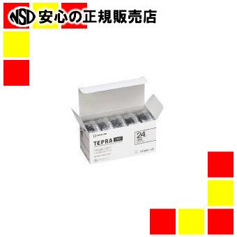 【キャッシュレス5%還元】キングジム 透明ラベル ST24K-5P 透明に黒文字24mm 5個