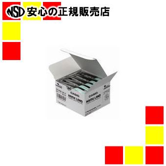 【キャッシュレス5%還元】カシオ計算機 ラベルテープ XR-9WE 白に黒文字 9mm 20個