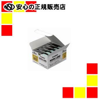 【キャッシュレス5%還元】カシオ計算機 テープ XR-12WE-5P-E 黄に黒文字 12mm 20個