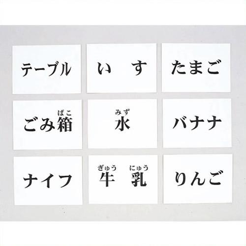 《DLM》 言語訓練文字カード 食物・家具 1245S-M 1245S-M