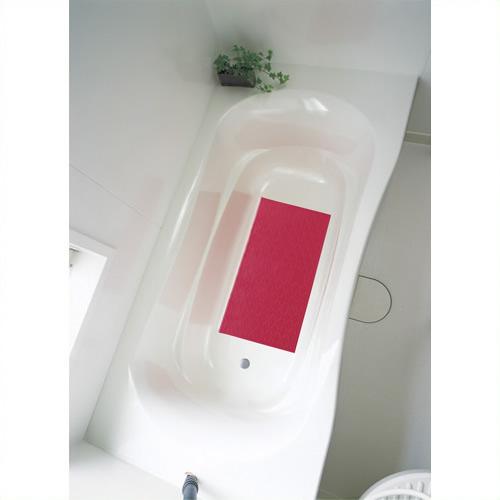 【キャッシュレス5%還元】《アロン化成》 吸着すべり止めマット(浴槽内) レッド M 535-458