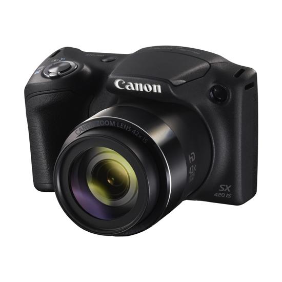 【キャッシュレス5%還元】《キヤノン》 デジタルカメラ PowerShot SX420 IS 黒 PSSX420IS(BK)