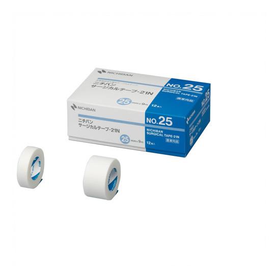 【キャッシュレス5%還元】《ニチバン》 サージカルテープ 白 25mm