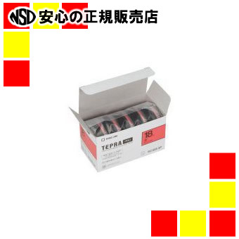 【キャッシュレス5%還元】キングジム PROテープカラーラベル(赤)SC18R-5P