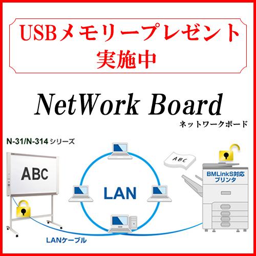 《送料・搬入設置無料》《USBメモリプレゼント中》プラス(PLUS) コピーボード ネットワークボード N-31S-ST(N-31S(本体)+スタンド セット)