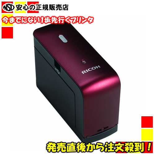 ≪RICOH(リコー)≫ ハンディー プリンター (HandyPrinter) モノクロ 515911 本体カラー:レッド