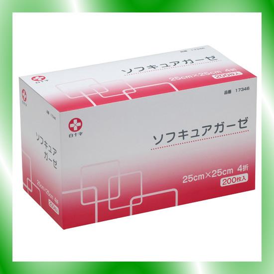 《白十字》 ソフキュアガーゼ25x25 4折200枚
