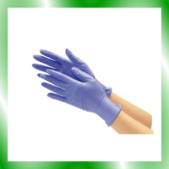 《川西工業》 ニトリル使い切り手袋 #2060 ブルー L 10箱