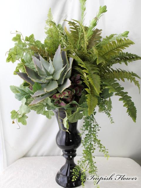 インテリアグリーン フェイクグリーン 造花 アレンジメント B-272 ディスプレイ 観葉植物 多肉植物【楽ギフ_のし】【楽ギフ_メッセ入力】【送料無料】【smtb-s】