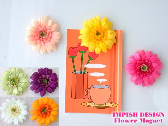 お花のマグネット ガーベラ アクセサリー ギフト 評価 文房具 雑貨 磁石 ご注文で当日配送 高級 花 造花 MAG-05 マグネット 人気