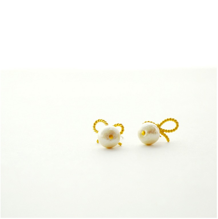 naotjewelry | Rakuten Global Market: Cotton Pearl Earrings women\'s ...