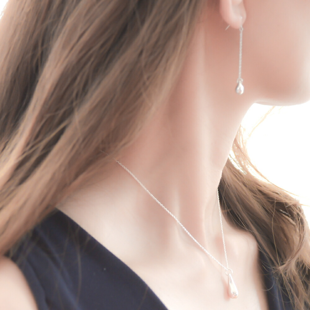 ギフト レディース シルバー925 ネックレス ママ友 プレゼント【GINGER 掲載】naotjewelry Silver925 Teardrop Necklace