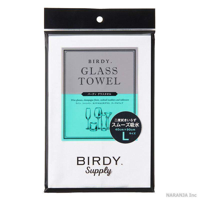 高い吸水力と驚異の拭き上げ能力を誇るマイクロファイバーを使用したグラス用のタオル 様々なグラスを美しく拭き上げる 店 BIRDY. 流行 グラスタオル トーション マイクロファイバー 40cmx90cm Lサイズ