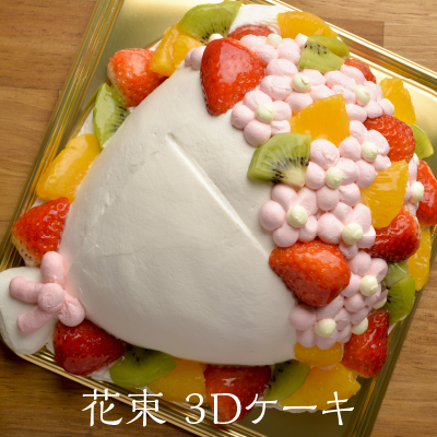 奈良のこだわり専門店 ナラノコト 3Dケーキ 花束 6号