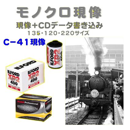 モノクロ現像 C-41 CDデータ書き込み 135 120 1本から受付 Kodak ギフ_包装 限定モデル FUJI モノクロフィルム ILFORD XP2