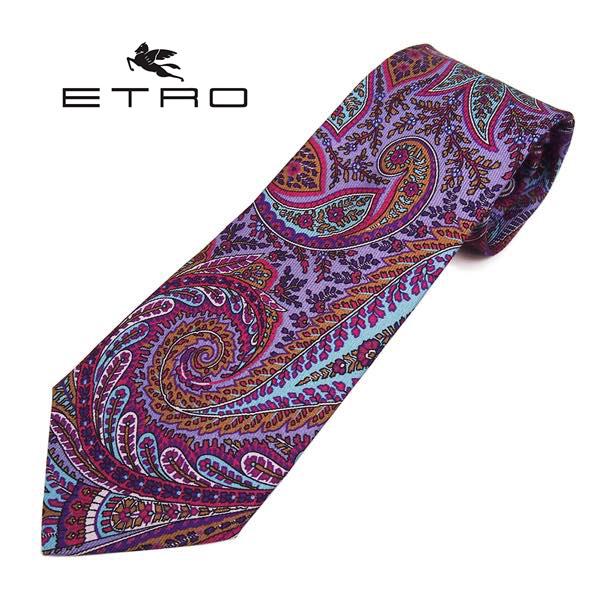 ETRO(エトロ)ネクタイ ペイズリー柄シルク(サイズ剣幅8cm) 5119-400 パープル系
