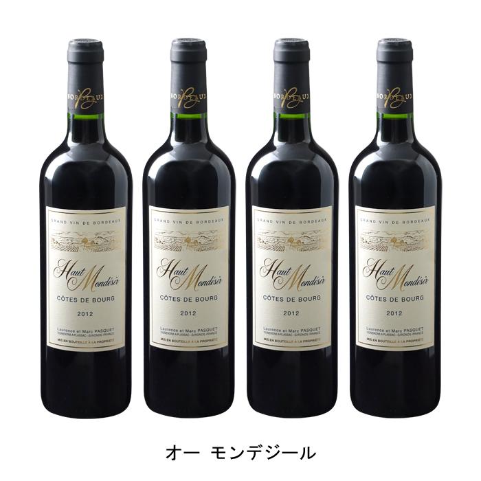 【日本製】 [ 4本 まとめ買い ] オー モンデジール ( マルク パスケ ) 2012年 フランス 赤ワイン フルボディ 750ml×4本, ブティック クロスオーバー 1f6294b7