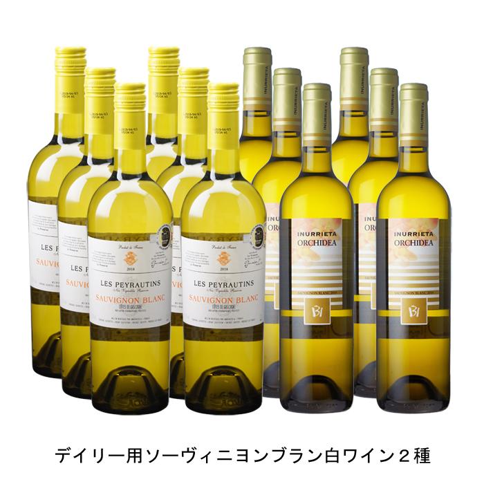 人気の製品 ワイン 白ワイン フランスワイン フランス白ワイン 記念日 スペインワイン スペイン白ワイン ワインセット まとめ買い 飲み比べ 2020年 ド オルキデア 750ml 2019年 と ガスコーニュ ブラン ソーヴィニヨン の各6本づつの12本セット コート