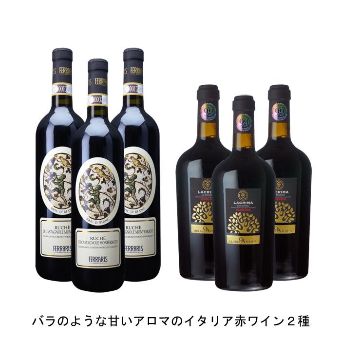 ワイン 赤ワイン イタリアワインイタリア赤ワインセット まとめ買い 飲み比べ 2019年 数量限定アウトレット最安価格 ルケ ディ カスタニョーレ モンフェッラート モッロ ビアンク メーカー公式 ド スペリオーレ と ラクリマ の各3本づつの6本セット ブリク ダルバ 750ml
