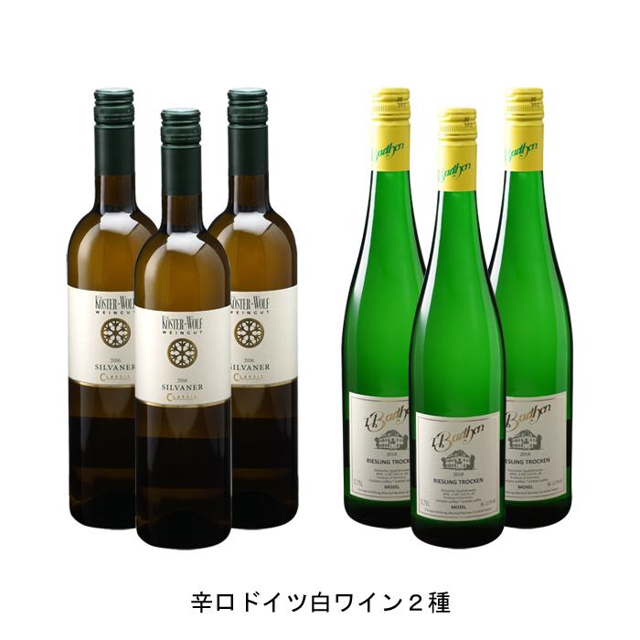 ワイン 白ワイン ドイツワインドイツ白ワインセット まとめ買い 飲み比べ 2019年 シルヴァーナ クラシック クーベーアー 750ml と 2019年 バルテン リースリング クーベーアー トロッケン 750ml の各3本づつの6本セット
