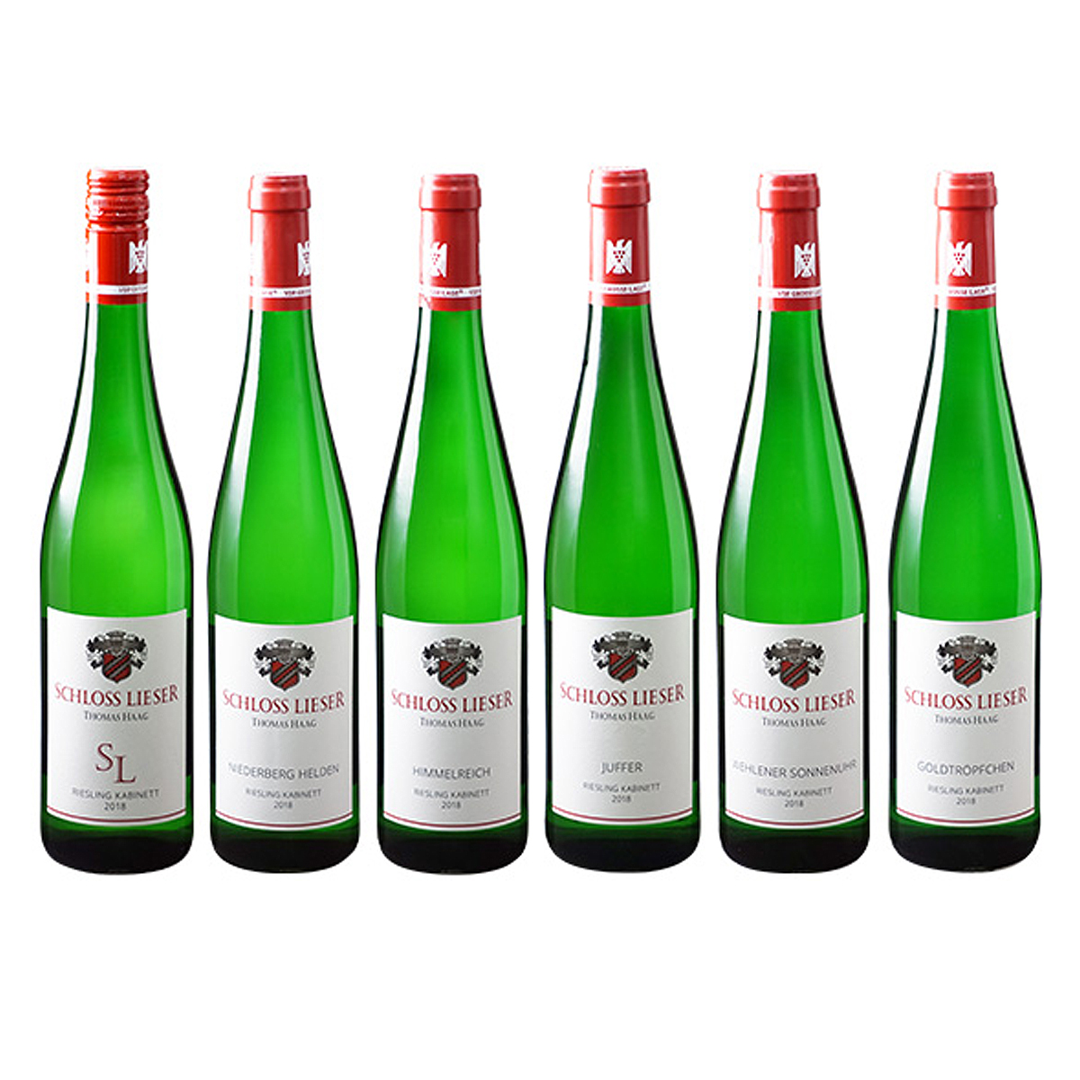 ワイン ドイツワイン 新品 大注目 白ワイン セレクトセット シュロス リーザー カビネットセット Schloss Lieser Kabinett 6 甘口 750ml×6本 ドイツ ハーク トーマス Set Botteles