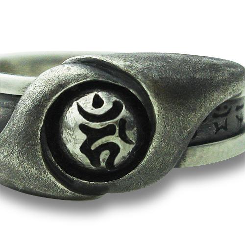 梵字アクセサリー シルバーリング 「風魂(ふうこん)」 13号-26号 指輪 神音梵字SVR