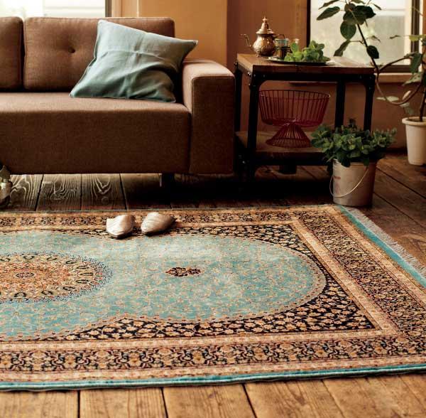 【送料無料】LANO Belgium Brand Carpet クラシックウイルトン Silky シルキーIRAN 75*120 (ラグ、マット、カーペット、玄関マット)