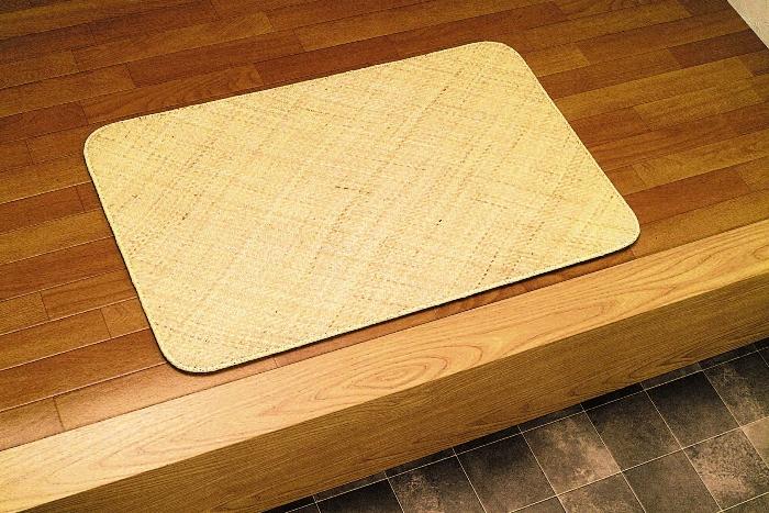 【送料無料】籐本手織り あじろ編みマット 80×150/玄関マット AJRM80