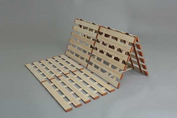 薄型軽量桐すのこベッド 3つ折れ式ダブルLYT410