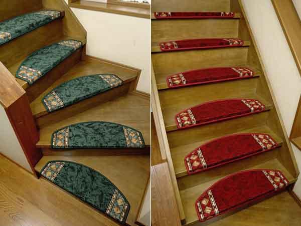 階段空間を華麗に彩ります ヨーロピアン半円形ダイヤ柄階段マット DAIYA-ST 64×21×4cm 人気ショップが最安値挑戦 本日の目玉 15枚組