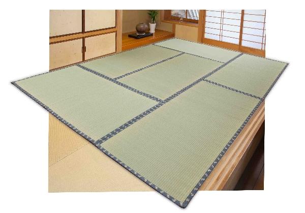サッと広げればタタミの形です 送料無料 畳式い草上敷き ショッピング 物品 畳式 3畳 261cm 約 174 い草マット い草ラグ