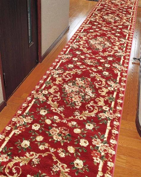 トルコ製ウィルトン織り 廊下敷き  ロゼ80*340