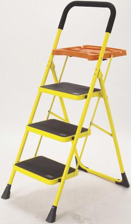便利なトレー付き脚立 3段 (脚立、踏台、はしご、折りたたみ式 脚立 DIY )