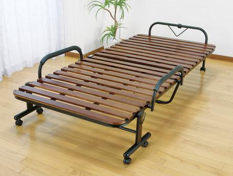 激安☆超特価 ワンタッチで折りたためる天然木すのこベッド 天然木すのこ折りたたみベッド セミダブル すのこベッド 木製 最新 スノコベッド