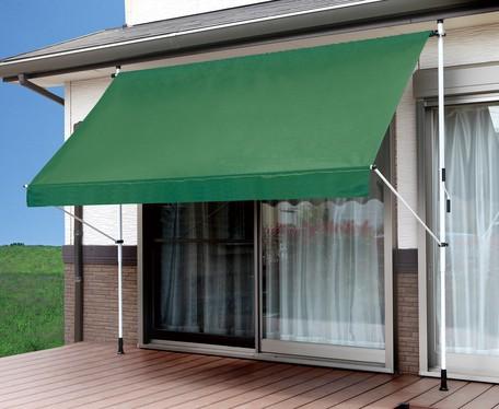 強い日差しや視線をカット つっぱり式はデッキやベランダにも簡単に設置 物干し竿付き日よけスクリーン ブラインド 幅3M テラス サンシェード メーカー在庫限り品 ガーデニング オーニング 信用