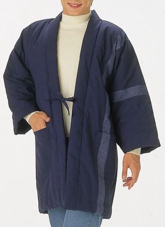 腰下まですっぽり包んで暖か 久留米織中綿入りロング半天 当店は最高な サービスを提供します 今季も再入荷 久留米織ロング半天 日本製
