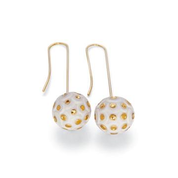 LLADRO リヤドロ Chinese Dragon Earrings (Golden) 10080 陶器 アクセサリー ピアス