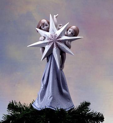 リヤドロ LLADRO A CELESTIAL CHRISTMAS 6747 陶器人形 置物 天使 クリスマス ツリートッパー