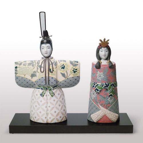 リヤドロ LLADRO 立雛 8437 陶器人形 置物 雛人形 お雛様 ひな祭り 桃の節句 初節句祝い