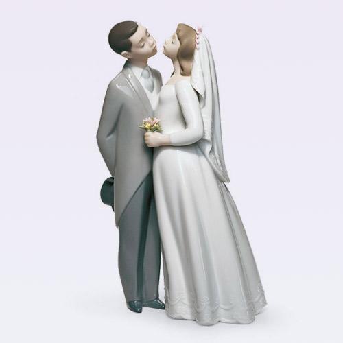 LLADRO リヤドロ 誓いのキス 6620 陶器人形 置物 カップル
