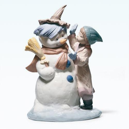 福袋 LLADRO 8168 リヤドロ おしゃべりしましょう 8168 少女 陶器人形 陶器人形 置物 スノーマン 雪だるま 少女, 関東土建shop:5a38725f --- canoncity.azurewebsites.net