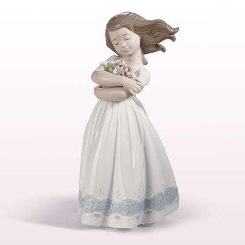 LLADRO リヤドロ さわやかな風 8248 陶器人形 置物 少女 女の子 花